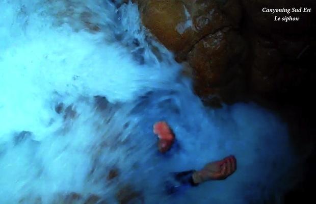 Canyoning Aiglun le siphon