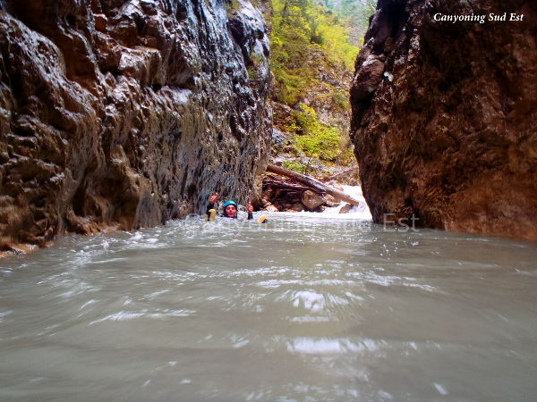 Canyon proche d'Annot