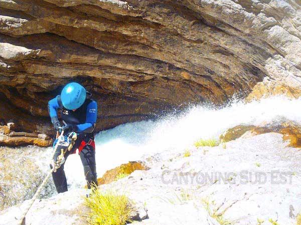 Canyoning Colmars - Rappel deuxi�me partie
