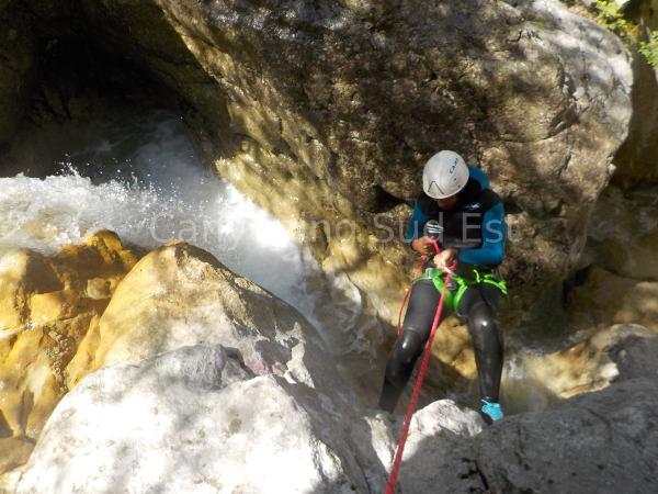 Rappel canyon Angouire