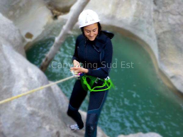 Rappel canyoning Trigance